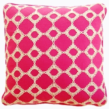 Kensington Raspberry Throw Pillow