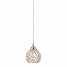 Kersey Circle Glass Mini Pendant In Satin Nickel