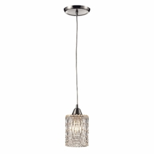 Kersey Diamond Glass Mini Pendant In Satin Nickel
