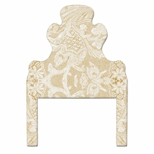 Lace On Caramel Headboard Wall Decal for Twin Bed
