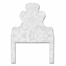Lace On Grey Headboard Wall Decal for Twin Bed
