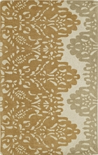 Lace Rug in Gold and Beige