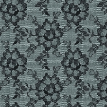 Lace Textured Smokey Black Removable Wallpaper