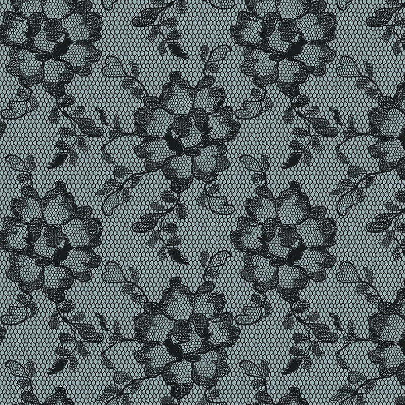 district17 lace textured smokey black removable wallpaper