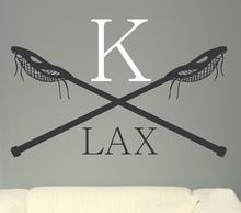 Lacrosse Monogram Wall Decal