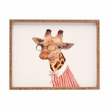 Lady Giraffe Rectangular Tray