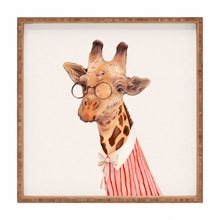 Lady Giraffe Square Tray