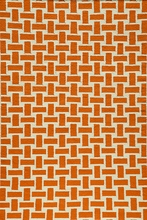 Laguna Basket Weave Rug in Orange