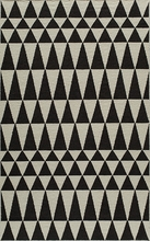 Laguna Geo Triangles Black Rug