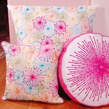 Large Colorful Starbursts Throw Pillow