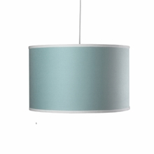 Large Cylinder Pendant Light in Aqua