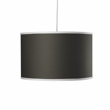 Large Cylinder Pendant Light in Brown