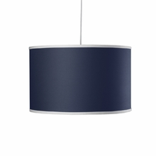 Large Cylinder Pendant Light in Cobalt Blue