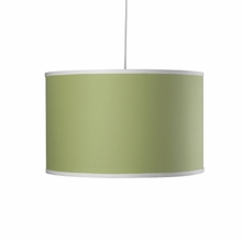 Large Cylinder Pendant Light in Spring Green