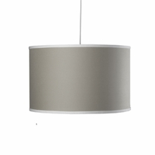 Large Cylinder Pendant Light in Taupe