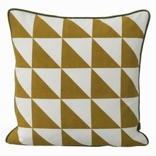 Large Geometry Pillow in Curry