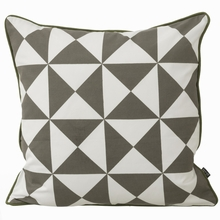 Large Geometry Pillow in Grey