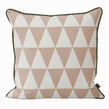 Large Geometry Pillow in Rose