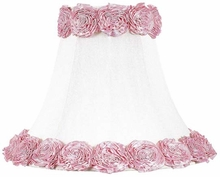 Large Lamp Shade in Ring of Roses