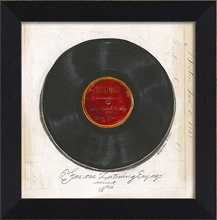 Large Record Framed Wall Art
