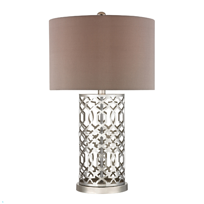 District17 laser cut trellis metal table lamp lamps laser cut trellis metal table lamp mozeypictures Image collections