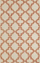 Lattice Rug in Orange