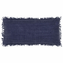 Laundered Linen Indigo Rectangular Pillow