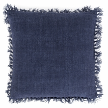 Laundered Linen Indigo Square Pillow