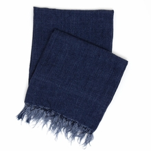 Laundered Linen Indigo Throw Blanket