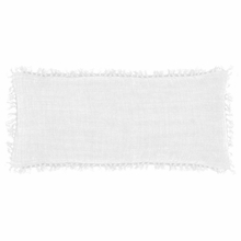 Laundered Linen White Rectangular Pillow