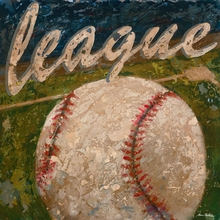 League Baseball Canvas Art