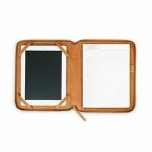 Leather iPad Case in Camel