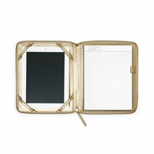 Leather iPad Case in Gold