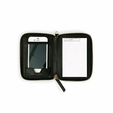 Leather Phone Pouchette in Black