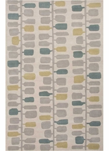 Leaves Rug in Beige