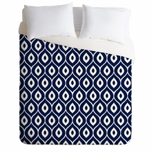 Leela Navy Lightweight Duvet Cover