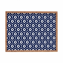 Leela Navy Rectangle Tray