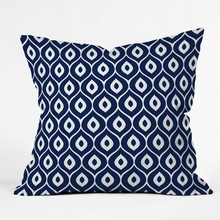 Leela Navy Throw Pillow