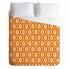 Leela Orange Lightweight Duvet Cover