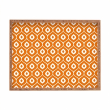 Leela Orange Rectangle Tray