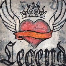 Legend Winged Heart Canvas Wall Art