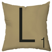 Letter Tile Personalized Throw Pillow
