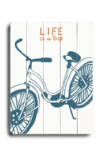 Life is a Trip Vintage Wood Sign