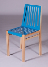 Light Blue and Natural Marlowe Chair