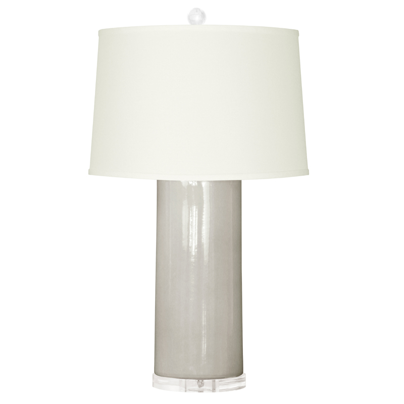 Clear Base Lamp Pleated Shade Crystal 28 Lamps With