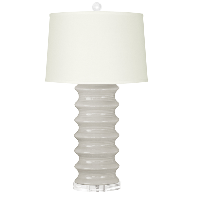 Exceptional District17 Light Gray Manila Lamp Base Lamps