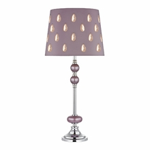 Lilac Buffet Lamp With Crystal Embellished Laser Cut Shade