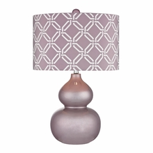 Lilac Ceramic Table Lamp With Linked Rings Shade