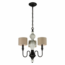 Lilliana Chandelier In Cream And Aged Bronze