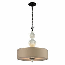 Lilliana Pendant In Cream And Aged Bronze